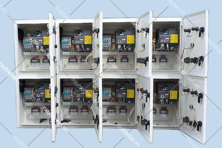 Tủ điện biến tần quạt tôm