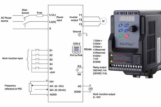 Sử dụng biến tần 1 pha điều khiển cho motor 3 pha như thế nào?