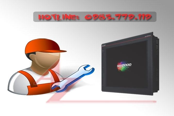 Sửa chữa màn hình HMI Mitsubishi